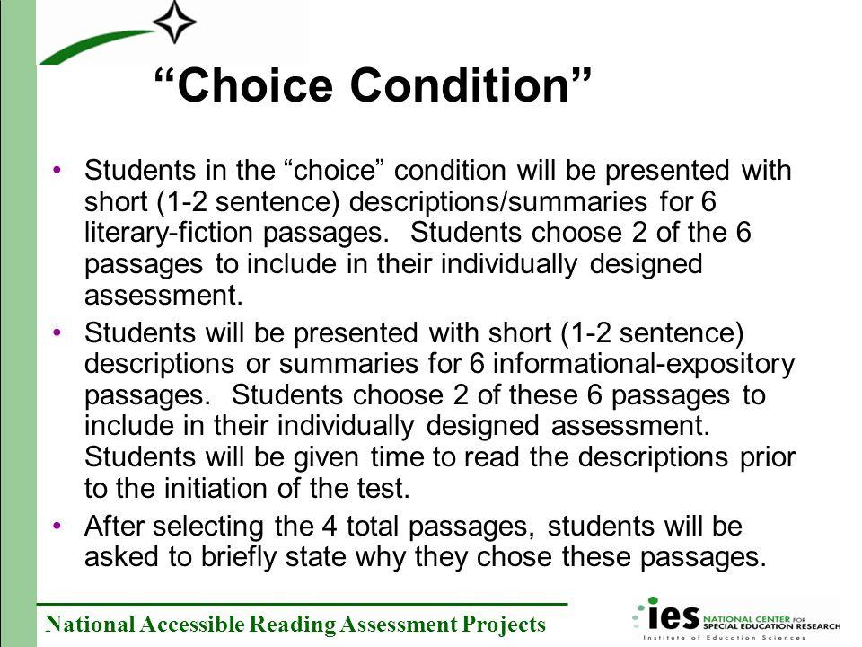 Choice Condition