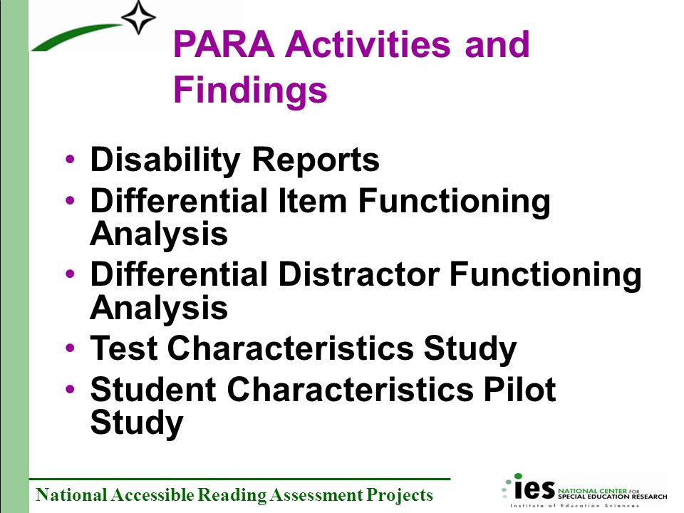 PARA Activities and Findings