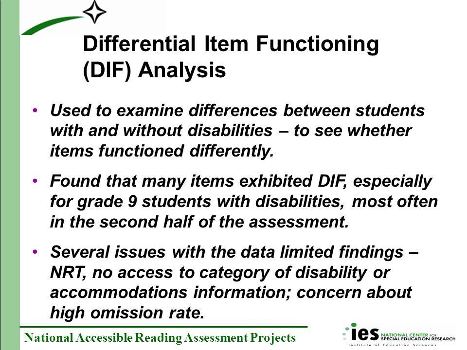 Differential Item Functioning (DIF) Analysis