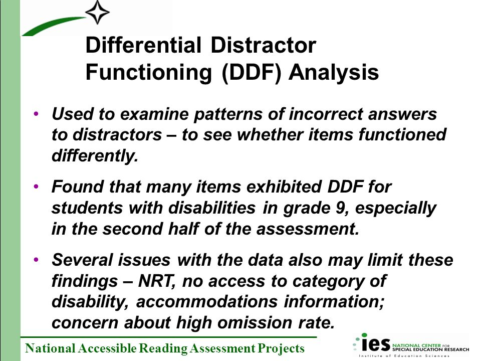 Differential Distractor Functioning (DDF) Analysis