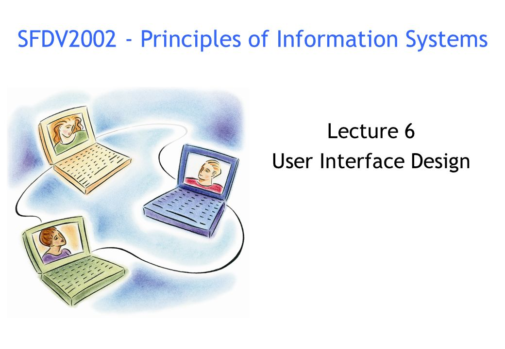 Lecture 6 User Interface Design Ppt Video Online Download