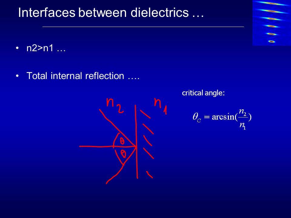 Interfaces between dielectrics …