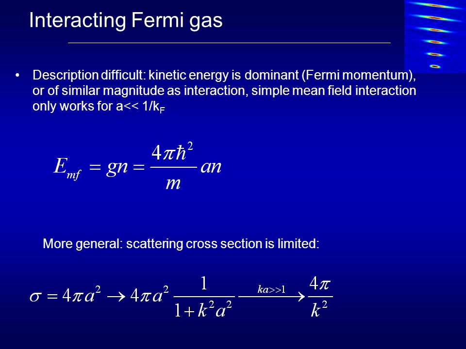 Interacting Fermi gas