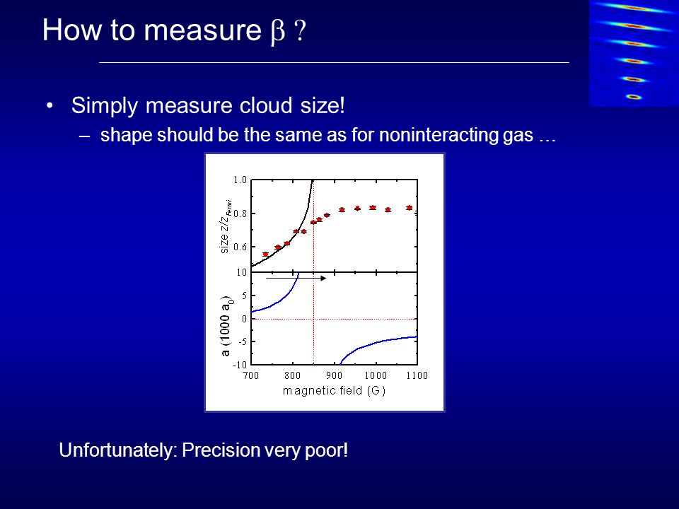 How to measure b Simply measure cloud size!