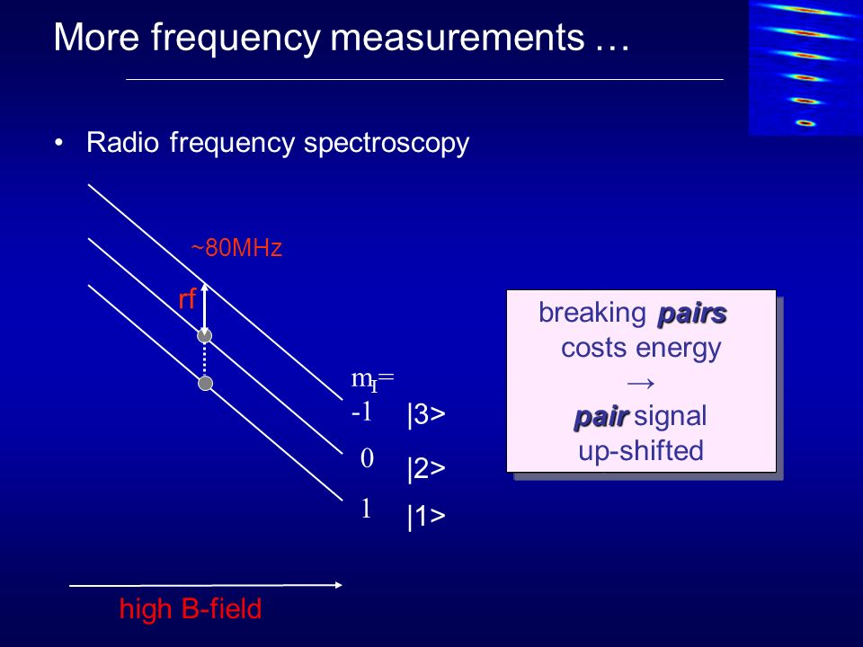 More frequency measurements …