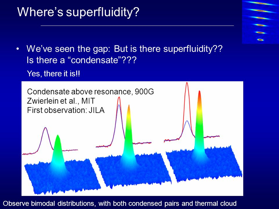 Where's superfluidity