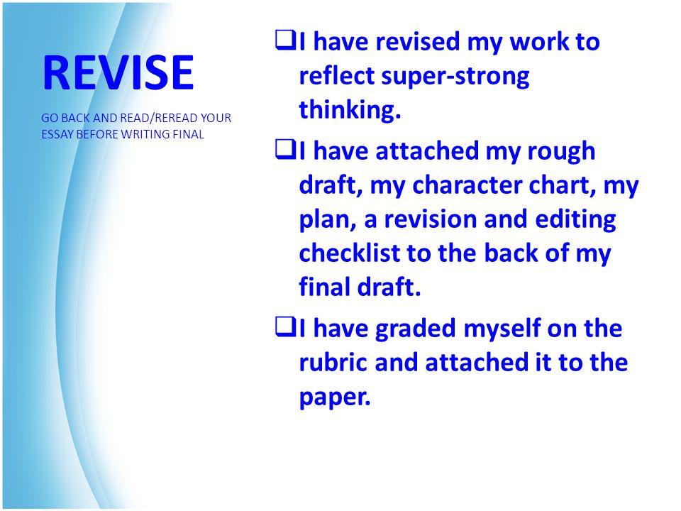 Revise my paper