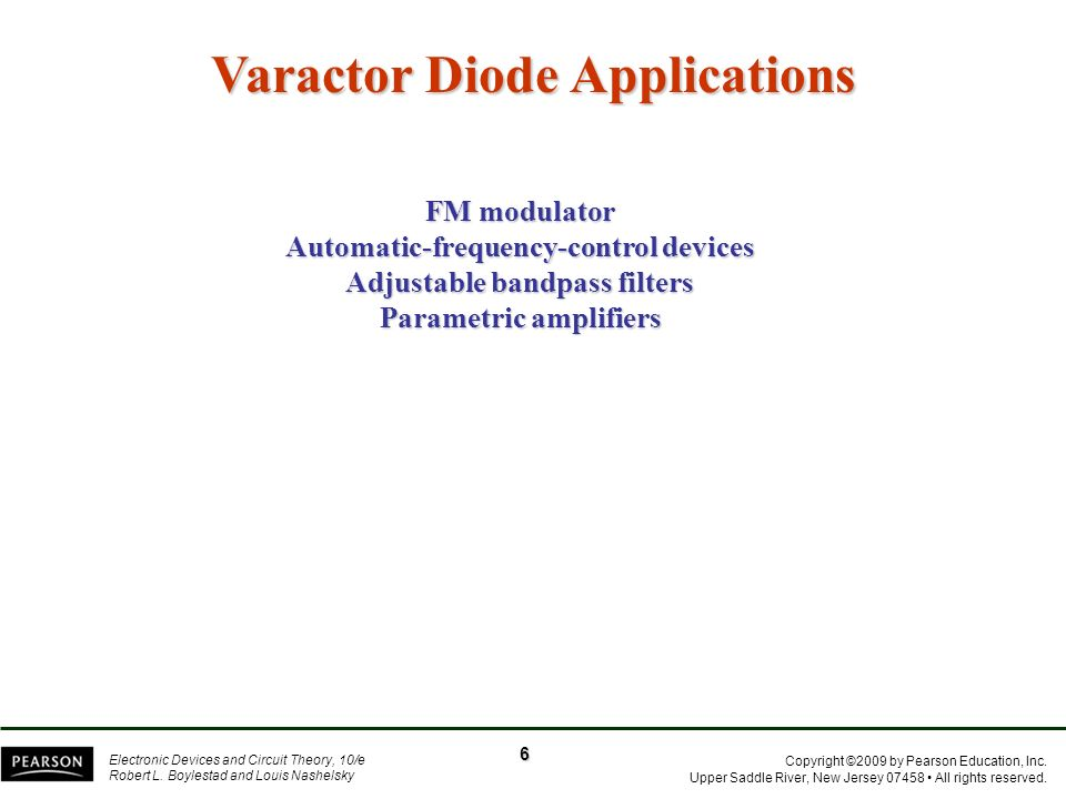 Varactor Diode Applications