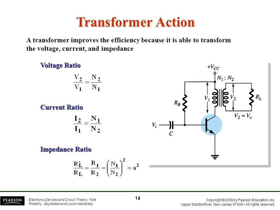 Transformer Action A transformer improves the efficiency because it is able to transform the voltage, current, and impedance.