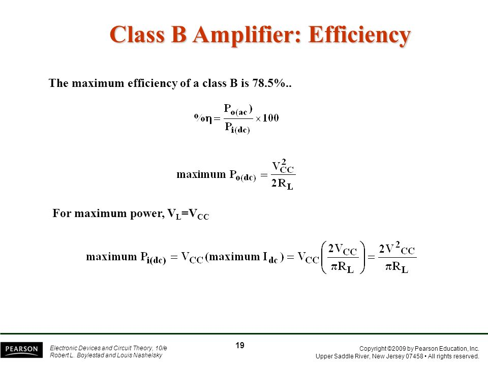 Class B Amplifier: Efficiency