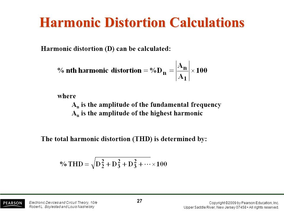 Harmonic Distortion Calculations