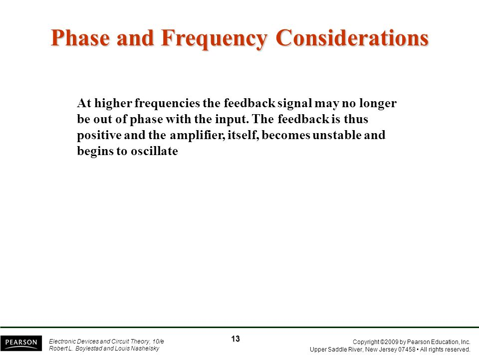 Phase and Frequency Considerations