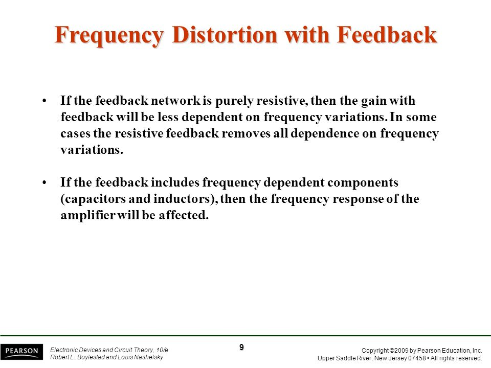 Frequency Distortion with Feedback