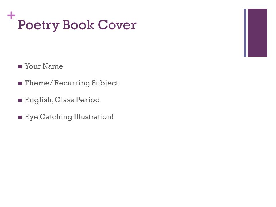 Poetry Book Cover Names : Poetry english ppt video online download