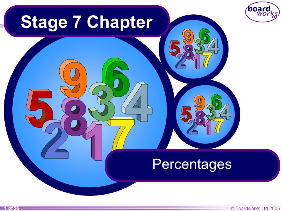 Stage 7 Chapter Percentages