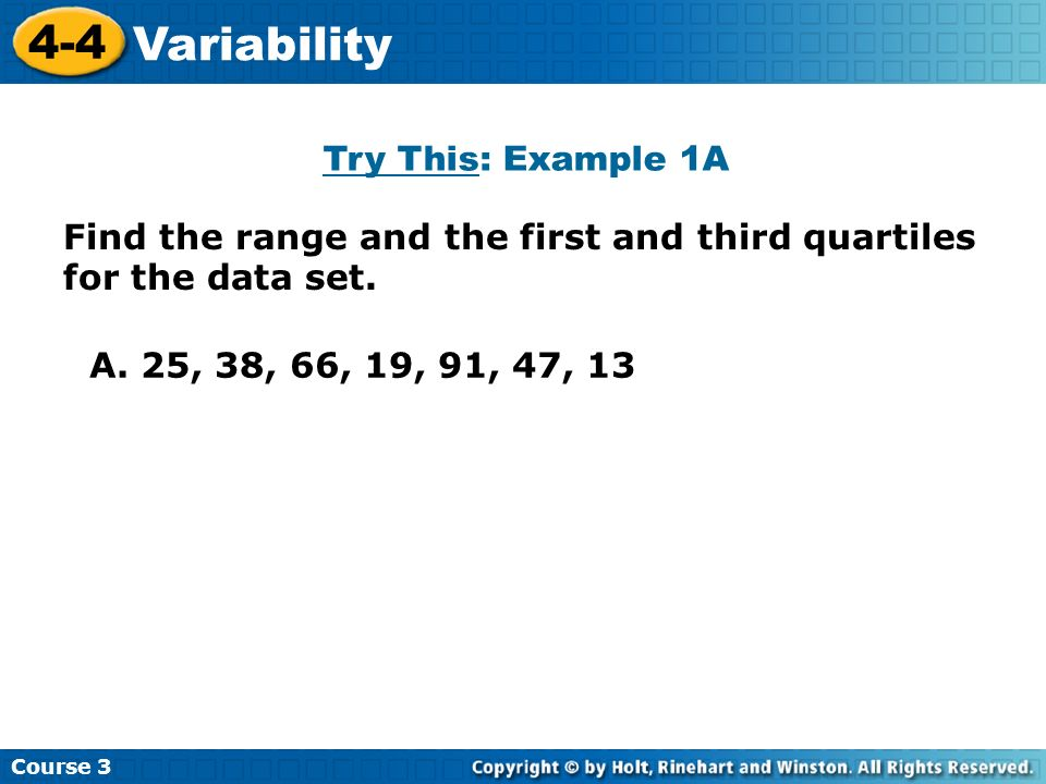 4-4 Variability Try This: Example 1A