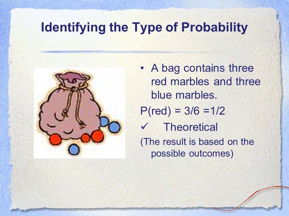 Identifying the Type of Probability