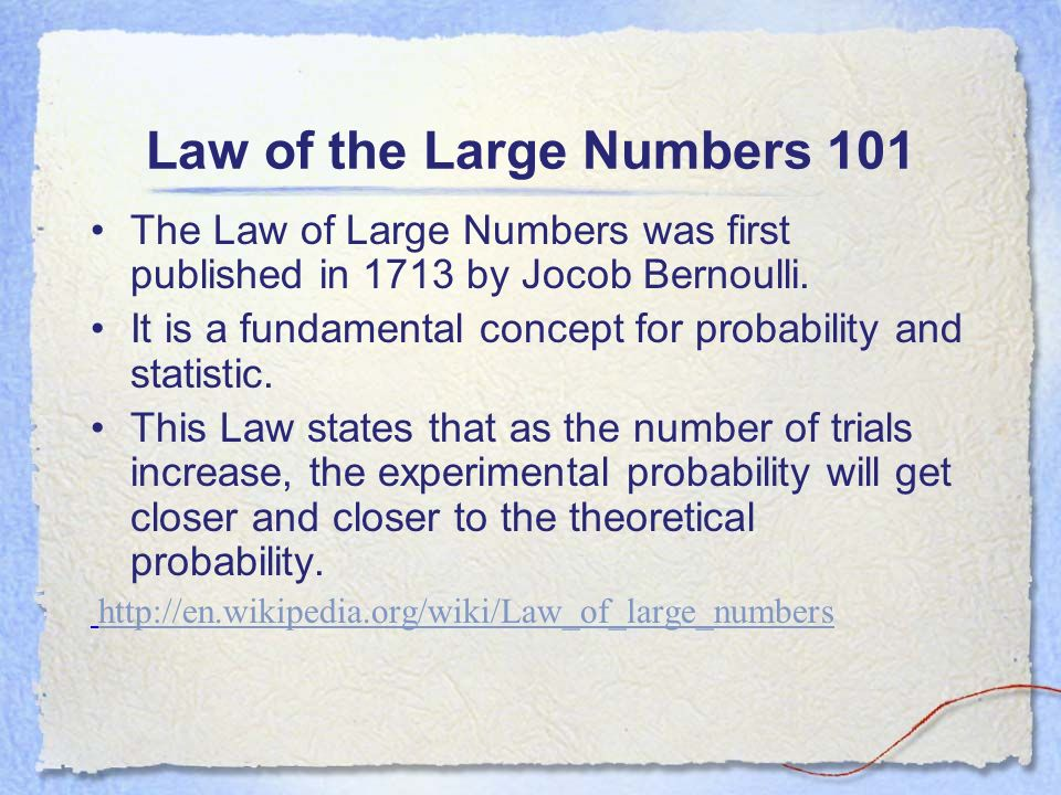 Law of the Large Numbers 101