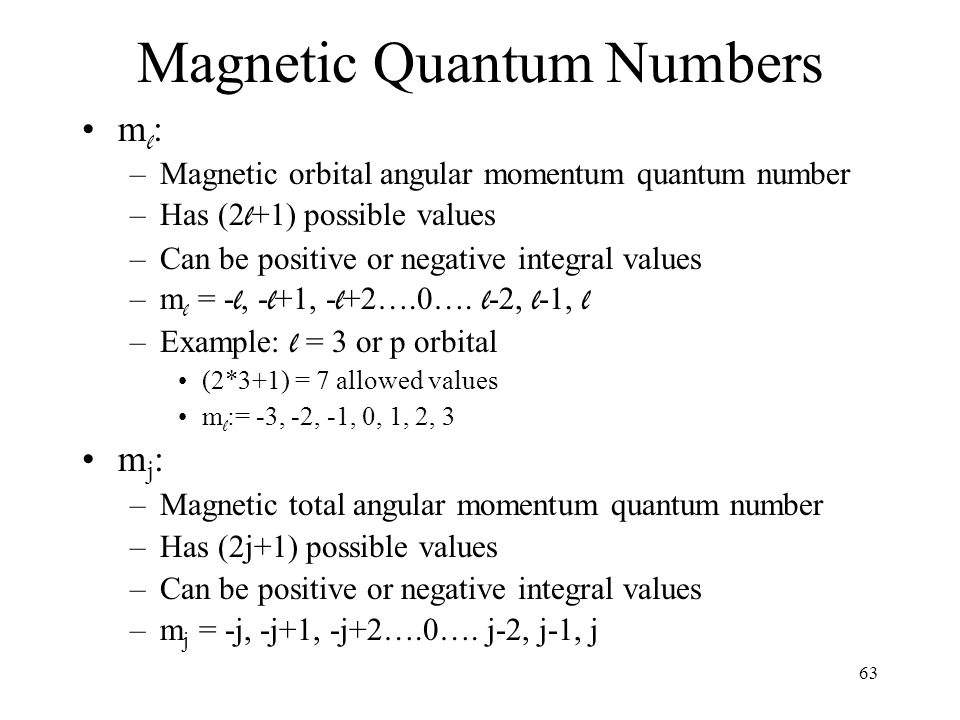 how to find angular momentum quantum number