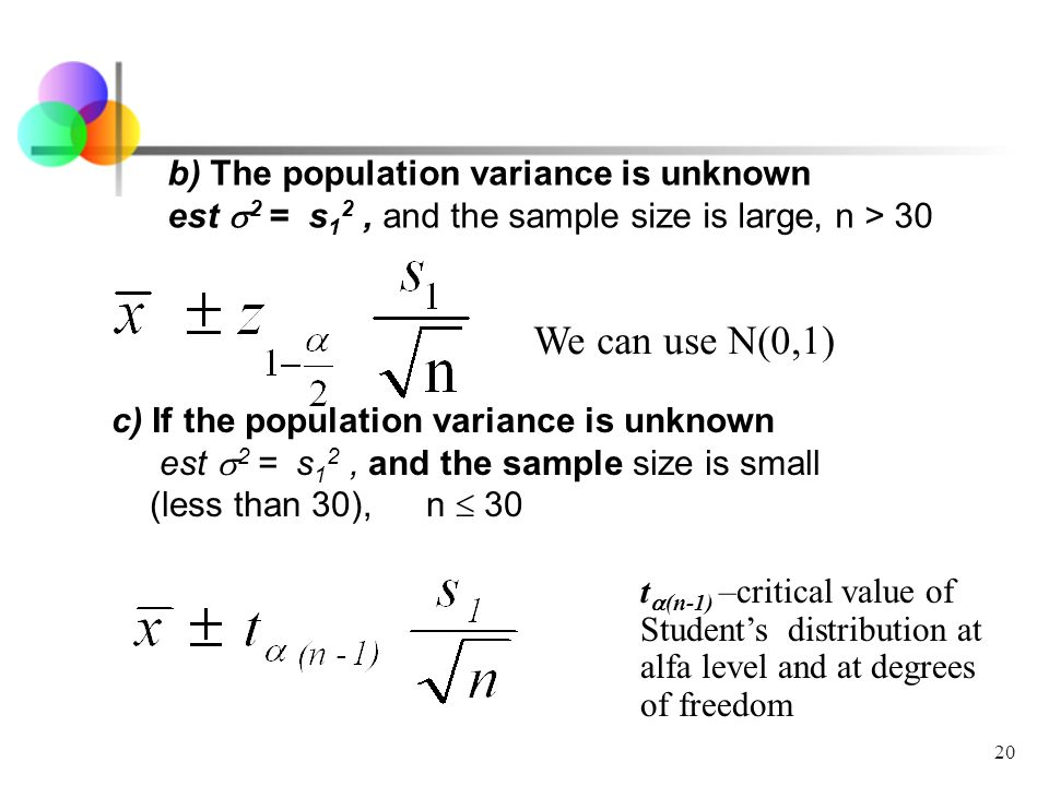 Topic 5 Statistical inference: point and interval estimate - ppt ...
