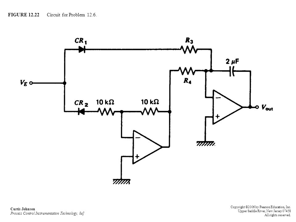 FIGURE 12.22 Circuit for Problem 12.6.