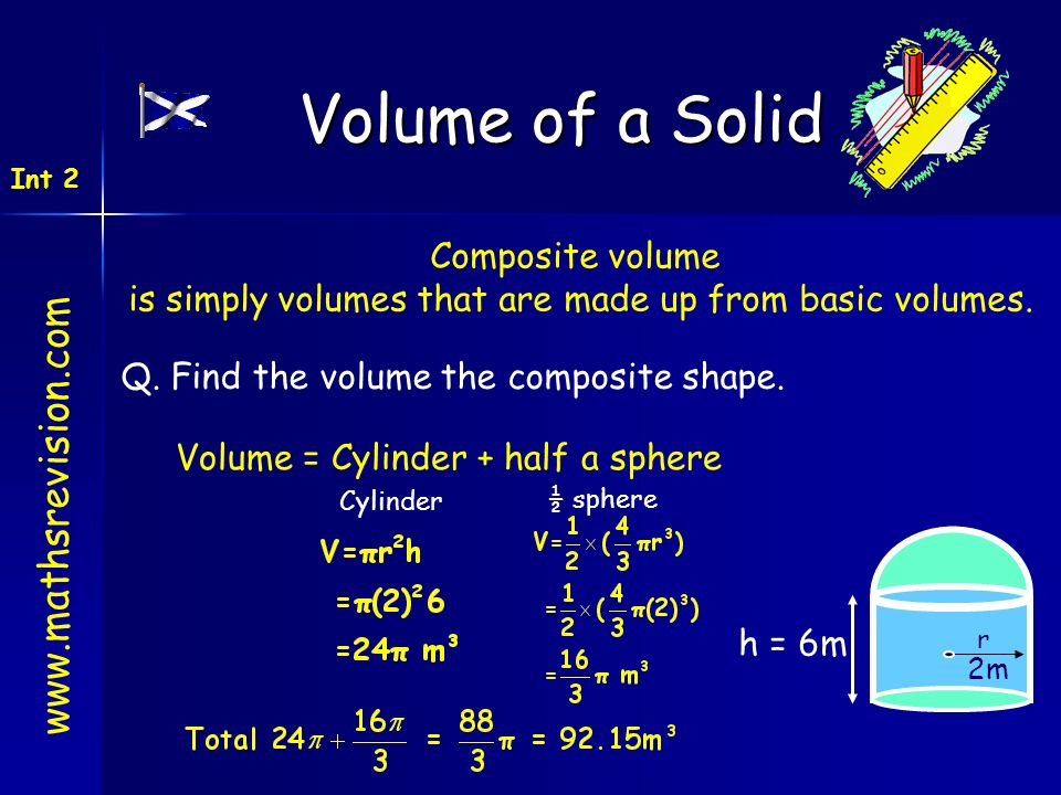 is simply volumes that are made up from basic volumes.