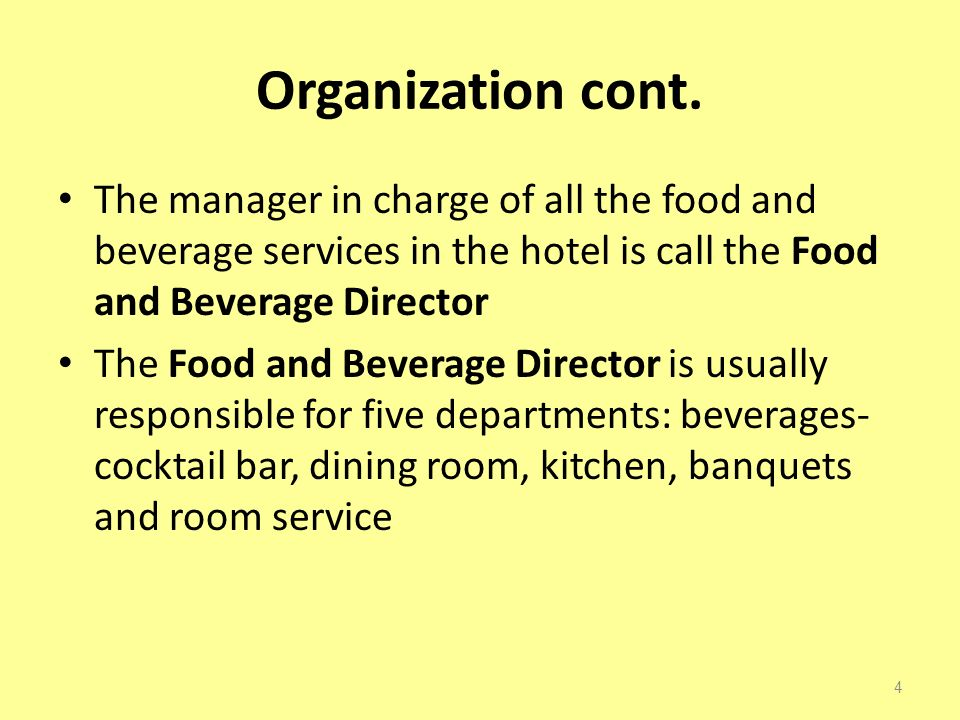 food and beverage cost control in the hotel