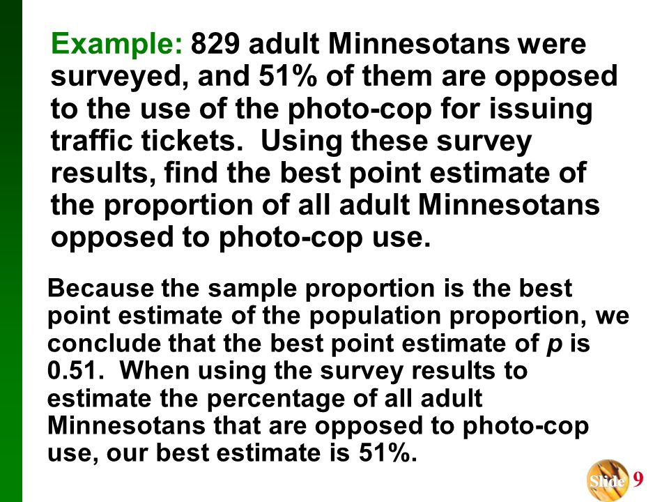 Chapter 7 Estimates and Sample Sizes - ppt download