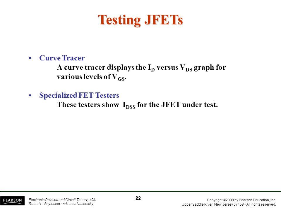 Testing JFETs Curve Tracer