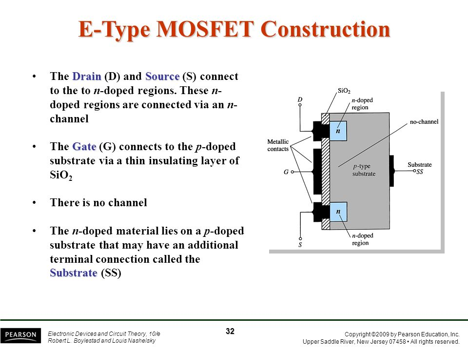 E-Type MOSFET Construction