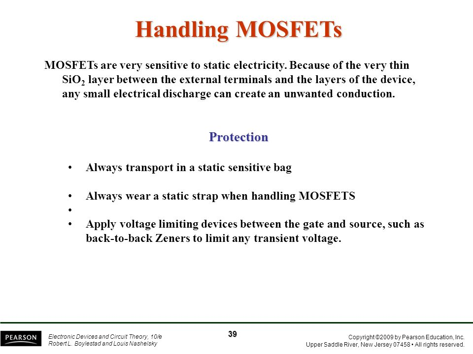 Handling MOSFETs Protection
