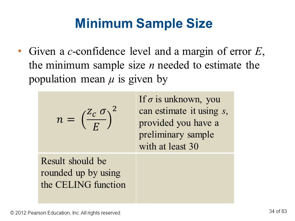 8 Chapter Estimation © 2012 Pearson Education, Inc. - ppt download
