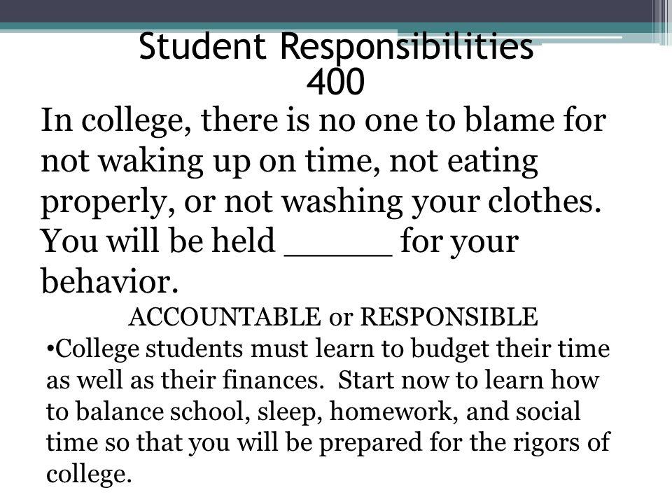 Student Responsibilities 400