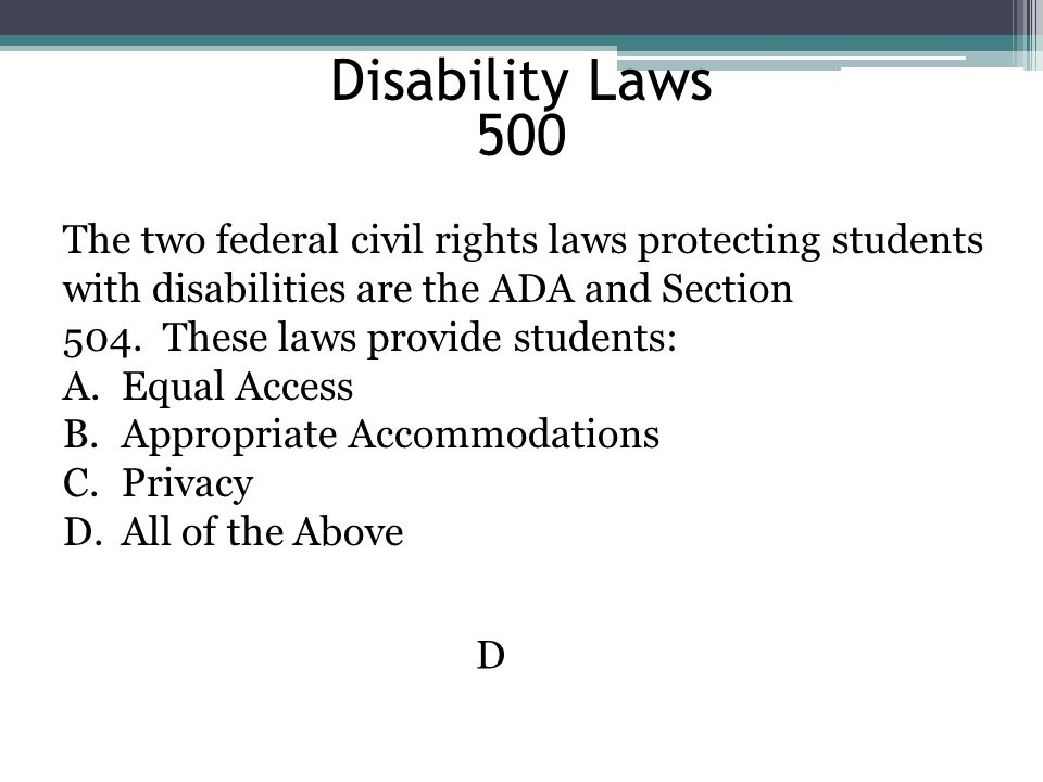 Disability Laws 500.