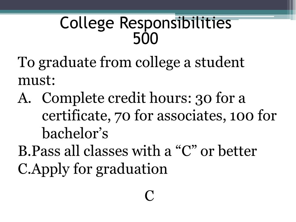 College Responsibilities 500
