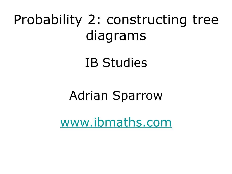 Probability 2: constructing tree diagrams