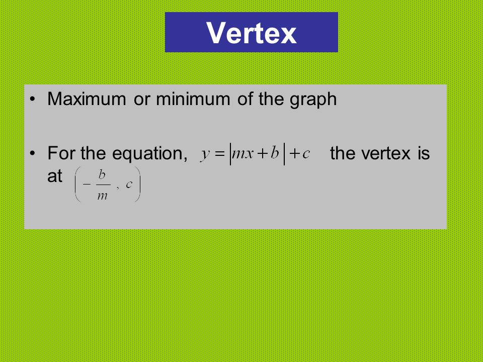 Vertex Maximum or minimum of the graph