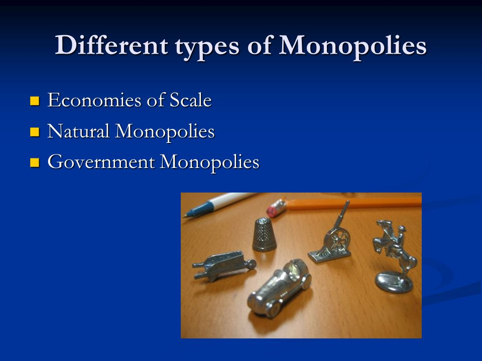 Different types of Monopolies