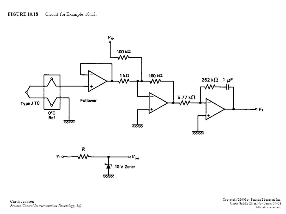 FIGURE 10.18 Circuit for Example 10.12.