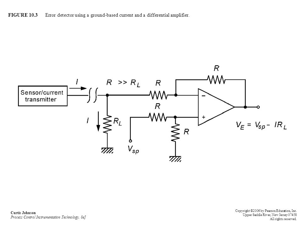 FIGURE 10.3 Error detector using a ground-based current and a differential amplifier.