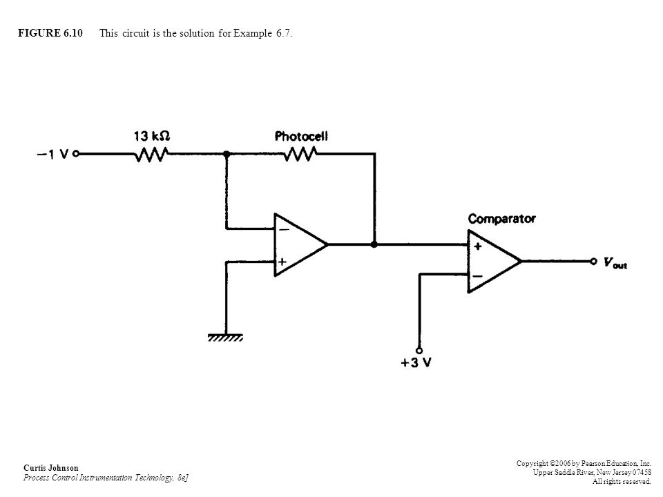 FIGURE 6.10 This circuit is the solution for Example 6.7.