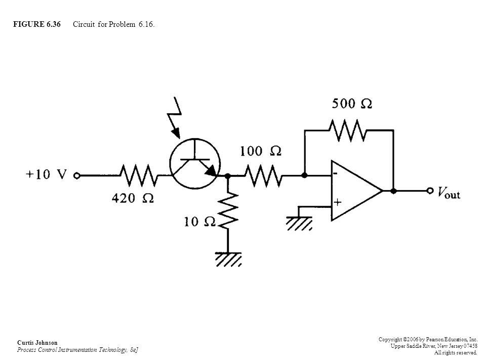 FIGURE 6.36 Circuit for Problem 6.16.