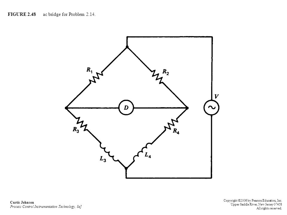 FIGURE 2.48 ac bridge for Problem 2.14.