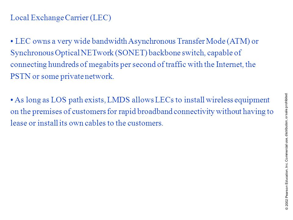 Local Exchange Carrier (LEC)