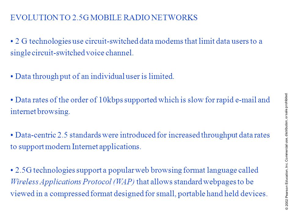 EVOLUTION TO 2.5G MOBILE RADIO NETWORKS