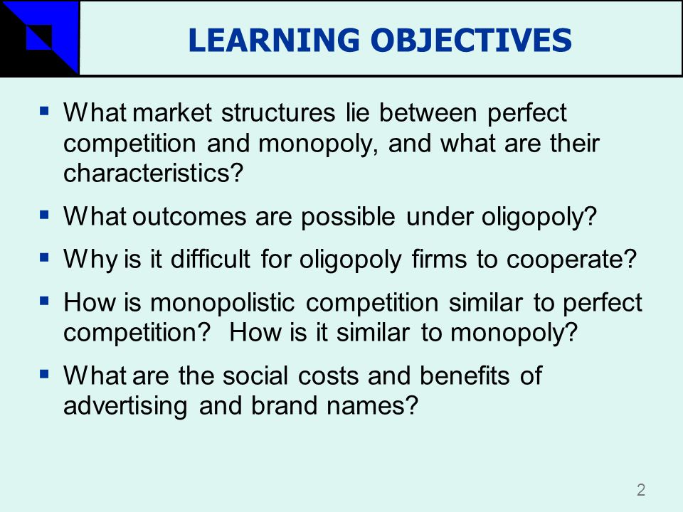 is fast food a monopoly or oligopoly market structure Monopolistic competition can be seen in the fast food industry 1) market structure example: oligopoly can be seen in the music market structure monopoly.