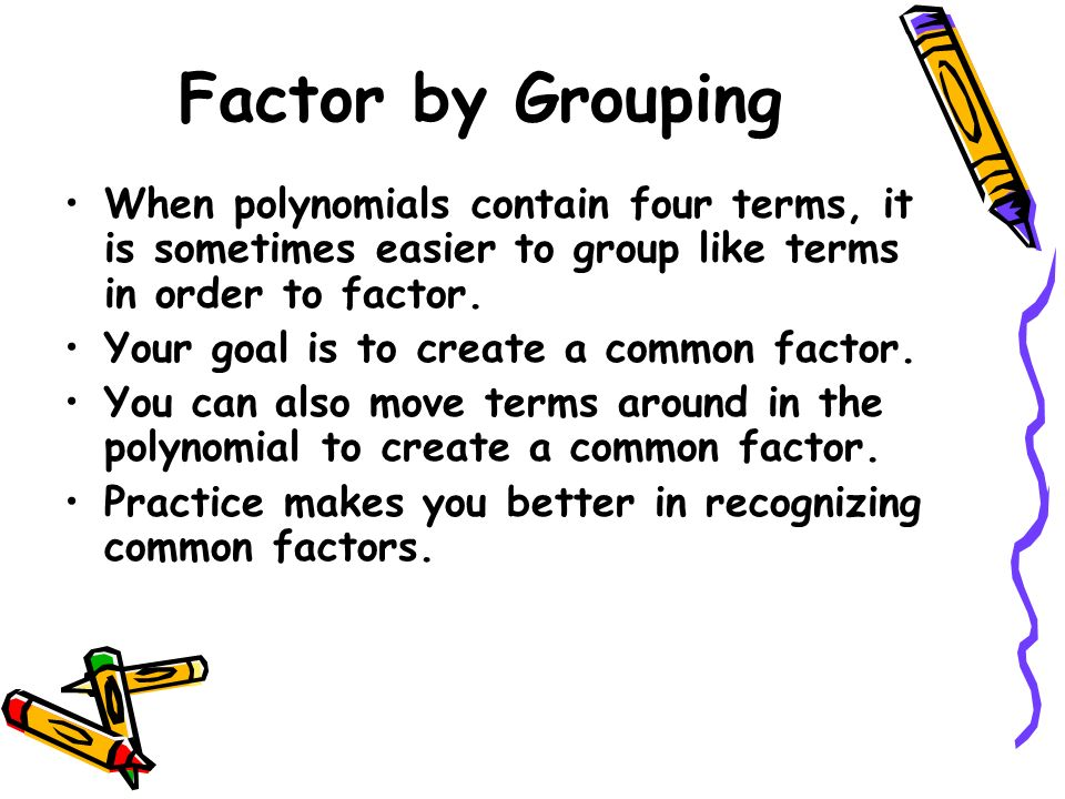 Factoring polynomials ppt download 9 factor ccuart Gallery