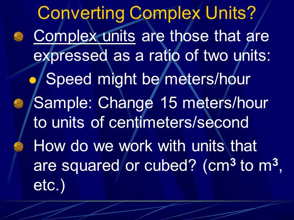 Converting Complex Units