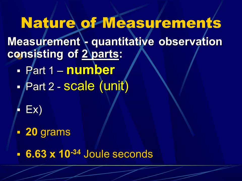 Nature of Measurements