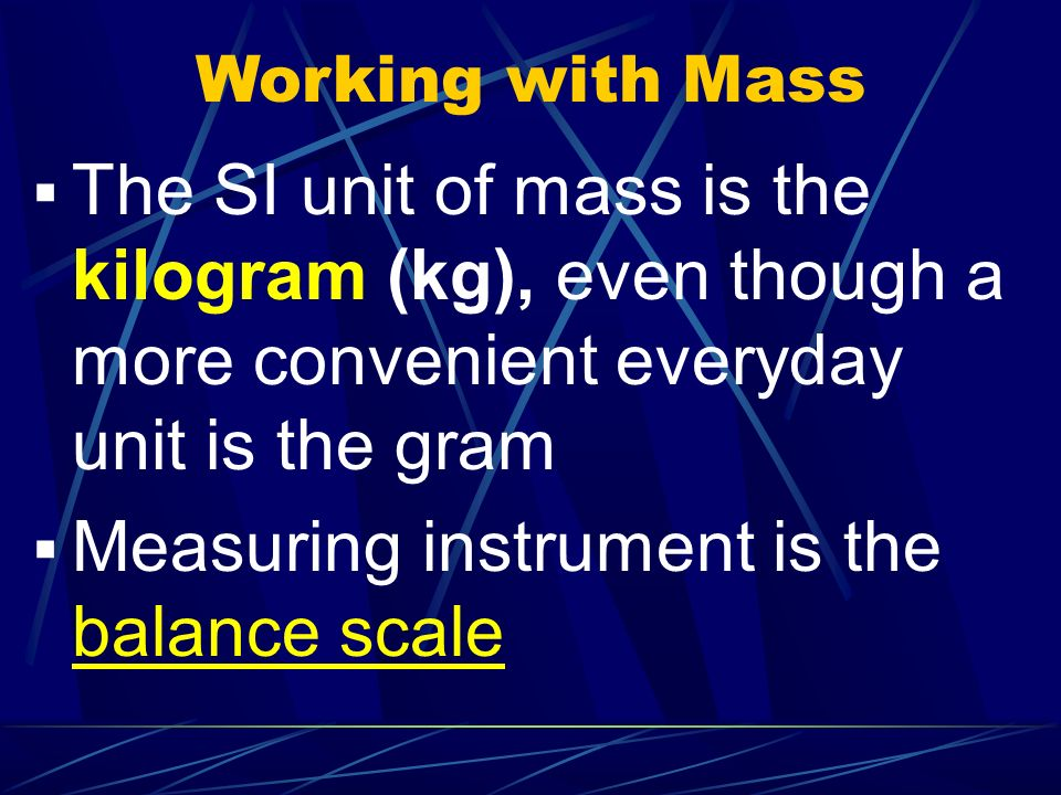 Measuring instrument is the balance scale